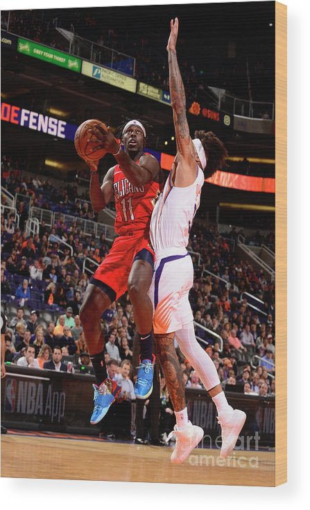 Nba Pro Basketball Wood Print featuring the photograph Jrue Holiday by Barry Gossage
