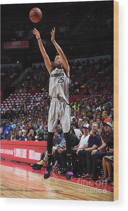 Nba Pro Basketball Wood Print featuring the photograph Justin Jackson by Garrett Ellwood