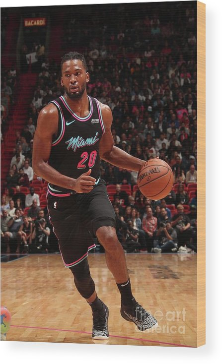 Justise Winslow Wood Print featuring the photograph Justise Winslow by Issac Baldizon