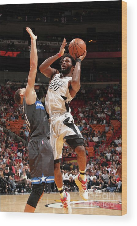 Justise Winslow Wood Print featuring the photograph Justise Winslow by Oscar Baldizon