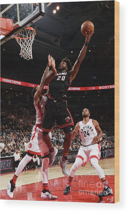 Justise Winslow Wood Print featuring the photograph Justise Winslow by Ron Turenne
