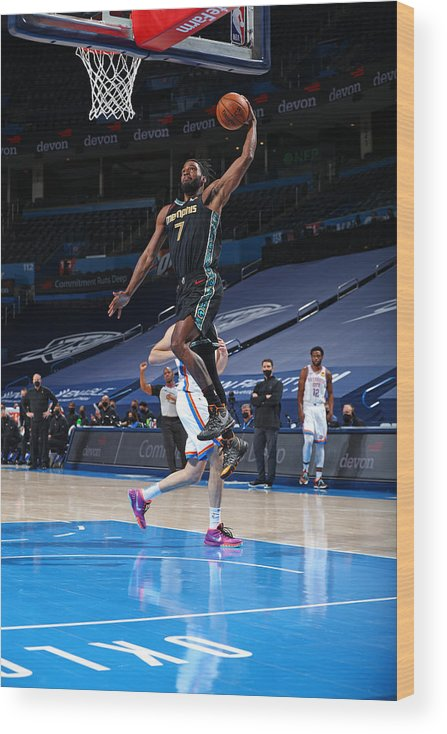 Justise Winslow Wood Print featuring the photograph Justise Winslow by Zach Beeker