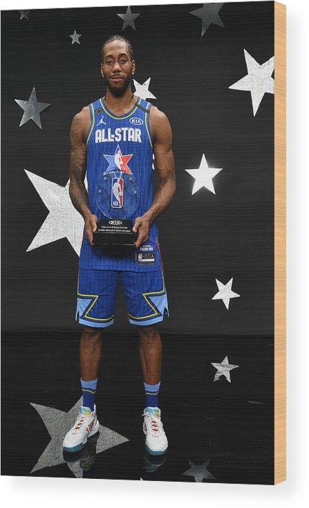 Nba Pro Basketball Wood Print featuring the photograph Kawhi Leonard and Kobe Bryant by Jesse D. Garrabrant