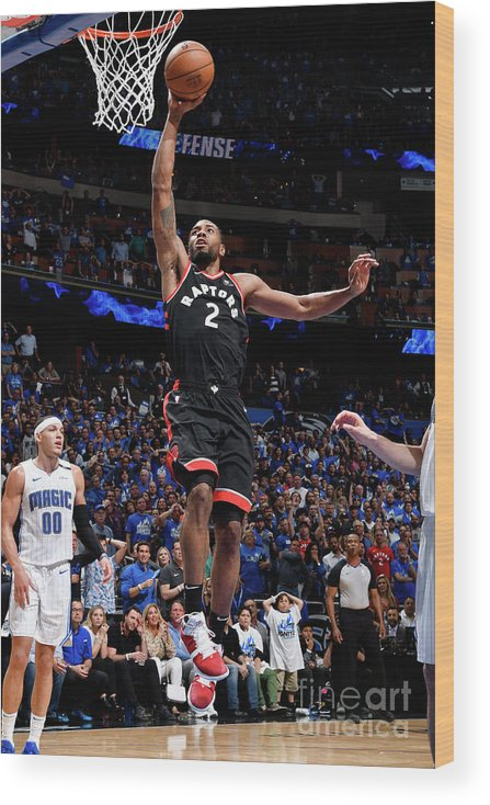 Playoffs Wood Print featuring the photograph Kawhi Leonard by Fernando Medina
