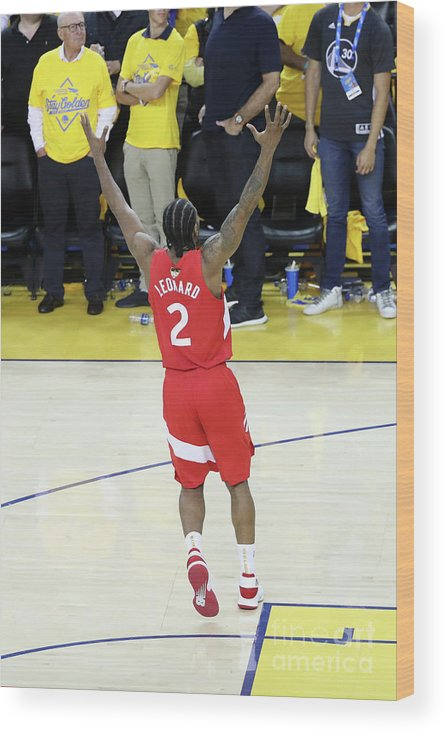 Playoffs Wood Print featuring the photograph Kawhi Leonard by Joe Murphy