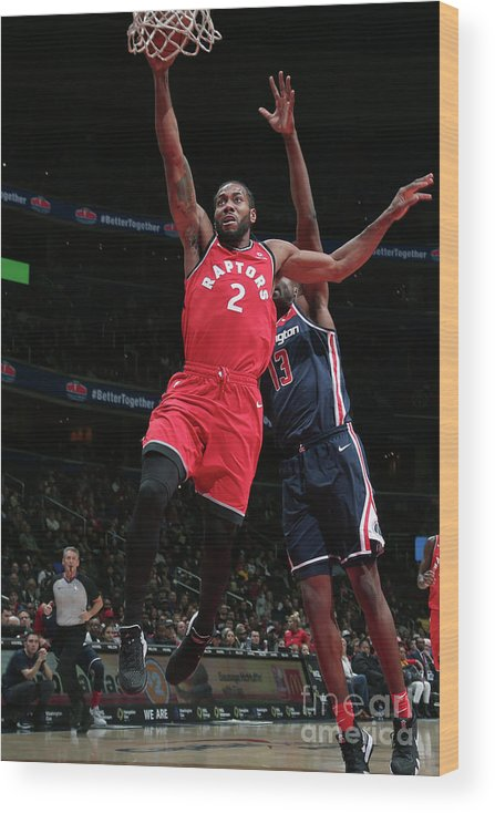 Nba Pro Basketball Wood Print featuring the photograph Kawhi Leonard by Ned Dishman
