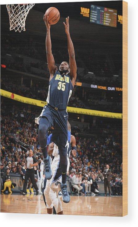 Nba Pro Basketball Wood Print featuring the photograph Kenneth Faried by Garrett Ellwood