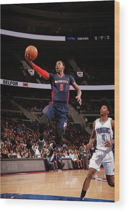 Nba Pro Basketball Wood Print featuring the photograph Kentavious Caldwell-pope by Brian Sevald