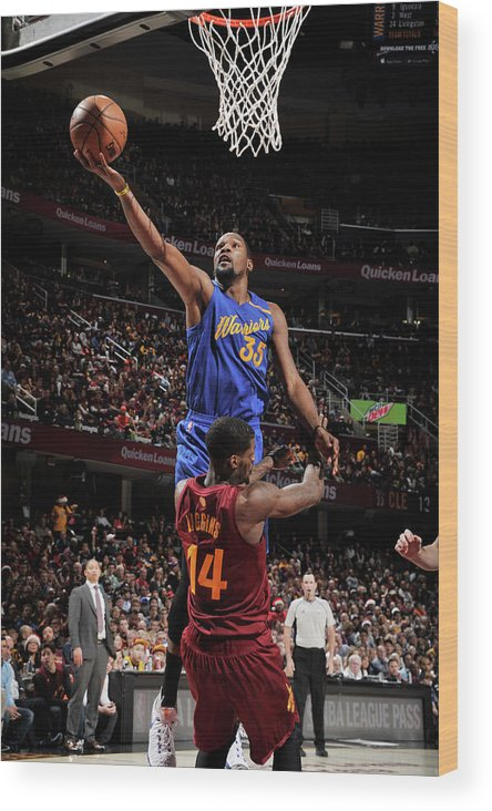 Nba Pro Basketball Wood Print featuring the photograph Kevin Durant by David Liam Kyle
