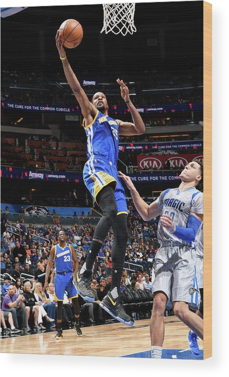Nba Pro Basketball Wood Print featuring the photograph Kevin Durant by Fernando Medina