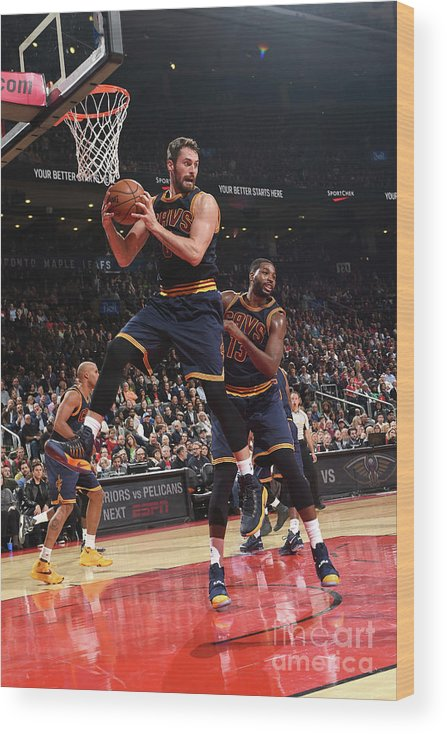 Nba Pro Basketball Wood Print featuring the photograph Kevin Love by Ron Turenne