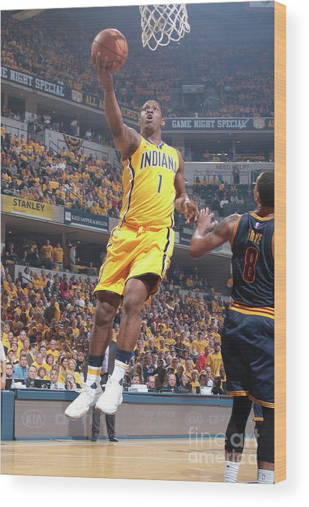 Playoffs Wood Print featuring the photograph Kevin Seraphin by Ron Hoskins