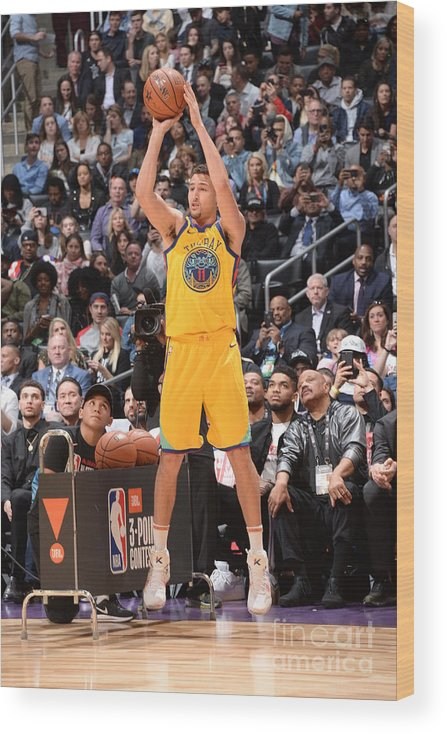 Event Wood Print featuring the photograph Klay Thompson by Andrew D. Bernstein