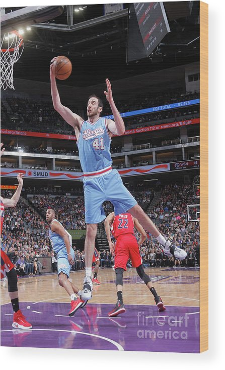Nba Pro Basketball Wood Print featuring the photograph Kosta Koufos by Rocky Widner