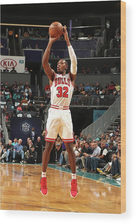 Chicago Bulls Wood Print featuring the photograph Kris Dunn by Kent Smith