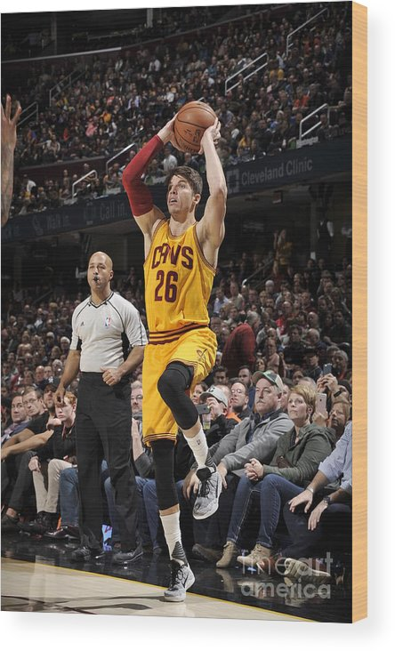 Nba Pro Basketball Wood Print featuring the photograph Kyle Korver by David Liam Kyle