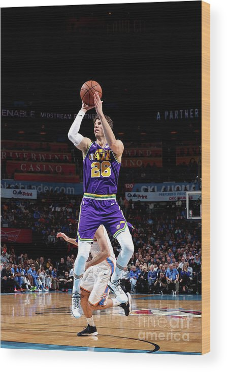Nba Pro Basketball Wood Print featuring the photograph Kyle Korver by Joe Murphy