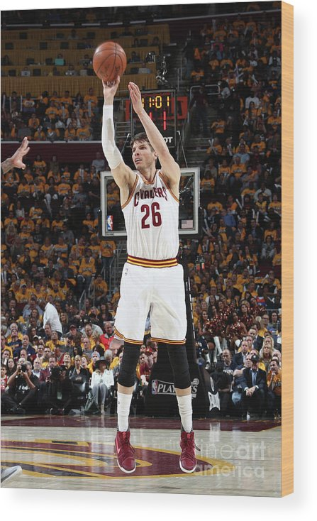 Playoffs Wood Print featuring the photograph Kyle Korver by Nathaniel S. Butler