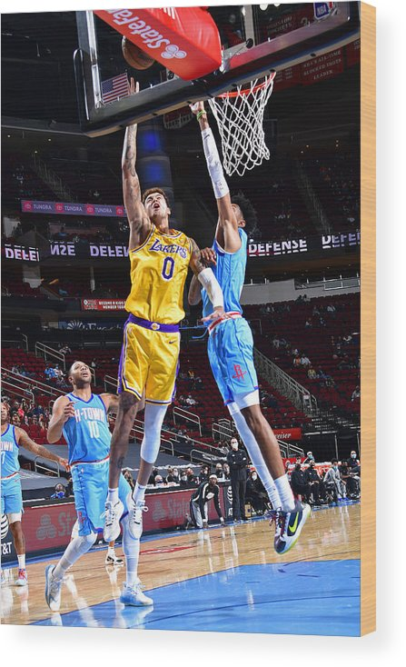 Nba Pro Basketball Wood Print featuring the photograph Kyle Kuzma by Cato Cataldo