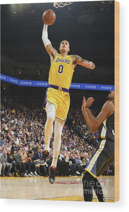 Nba Pro Basketball Wood Print featuring the photograph Kyle Kuzma by Garrett Ellwood