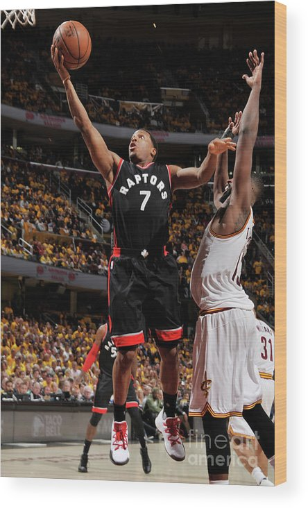 Playoffs Wood Print featuring the photograph Kyle Lowry by David Liam Kyle