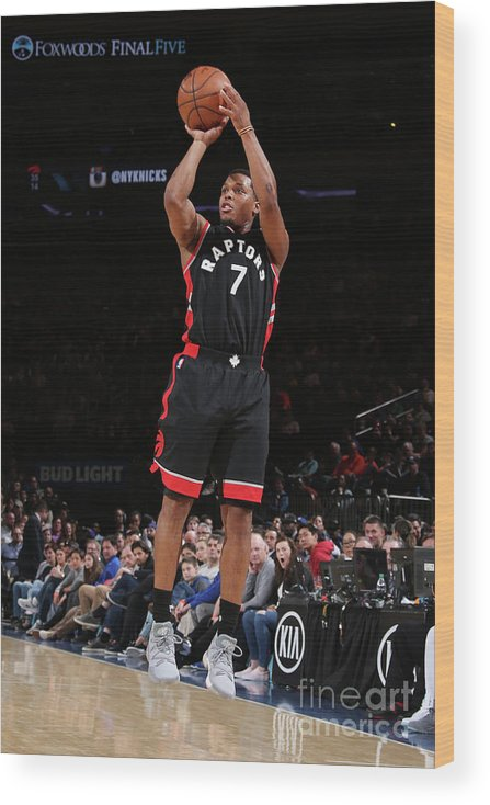 Nba Pro Basketball Wood Print featuring the photograph Kyle Lowry by Nathaniel S. Butler