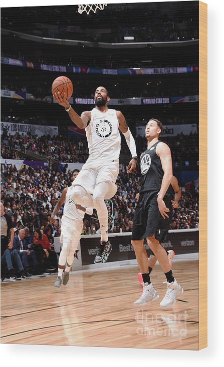 Nba Pro Basketball Wood Print featuring the photograph Kyrie Irving by Andrew D. Bernstein