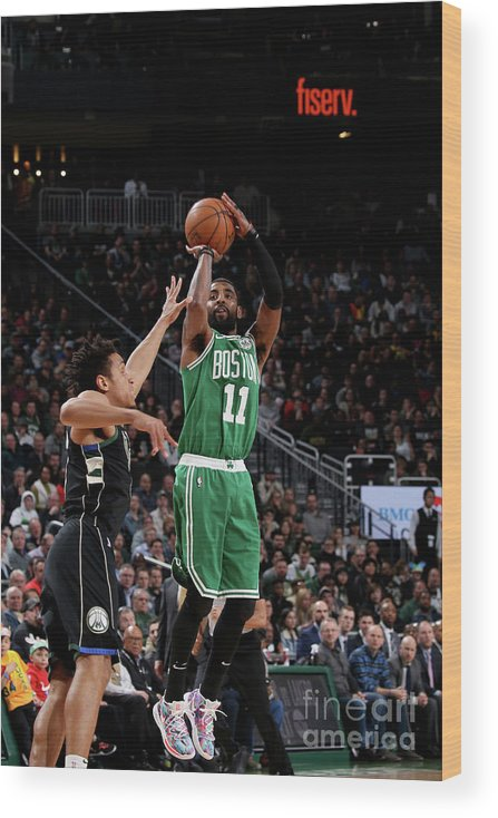 Nba Pro Basketball Wood Print featuring the photograph Kyrie Irving by Gary Dineen