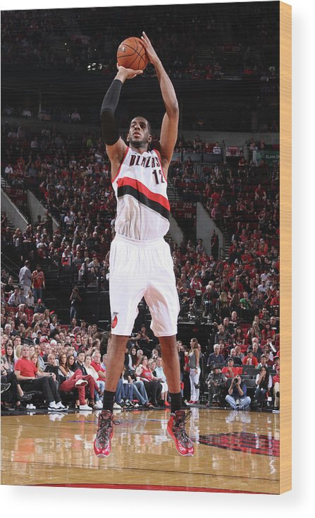 Playoffs Wood Print featuring the photograph Lamarcus Aldridge by Sam Forencich