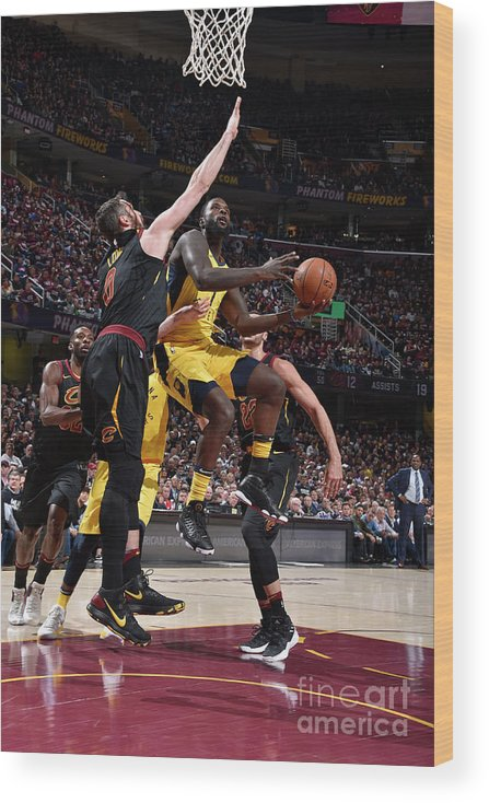 Playoffs Wood Print featuring the photograph Lance Stephenson by David Liam Kyle
