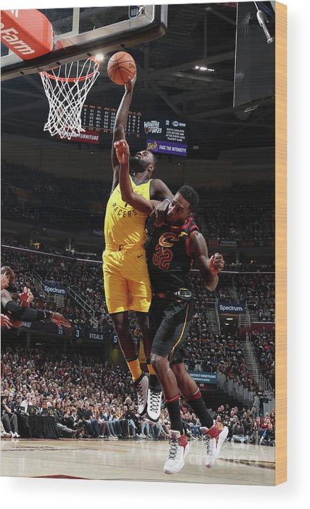 Playoffs Wood Print featuring the photograph Lance Stephenson by Nathaniel S. Butler