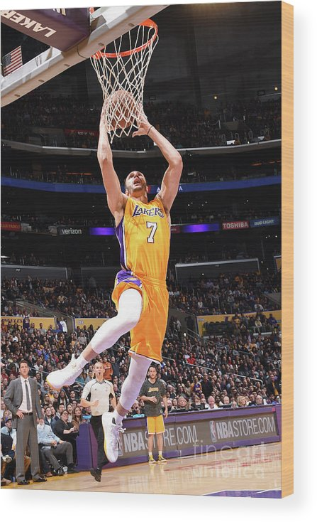 Nba Pro Basketball Wood Print featuring the photograph Larry Nance by Andrew D. Bernstein