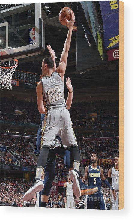 Nba Pro Basketball Wood Print featuring the photograph Larry Nance by David Liam Kyle