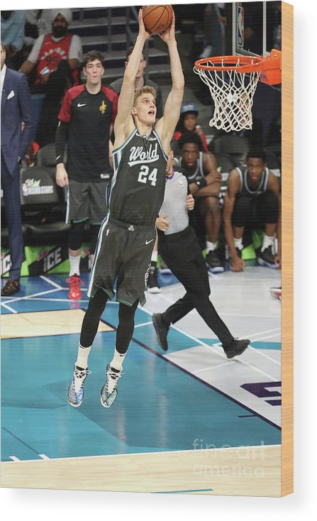 Nba Pro Basketball Wood Print featuring the photograph Lauri Markkanen by Kent Smith
