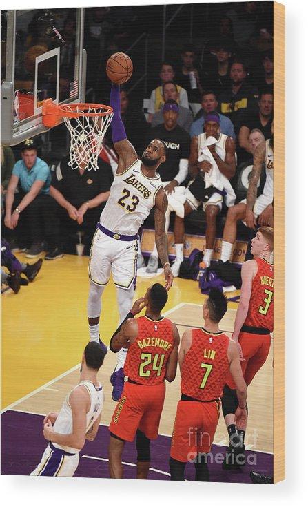 Nba Pro Basketball Wood Print featuring the photograph Lebron James by Adam Pantozzi