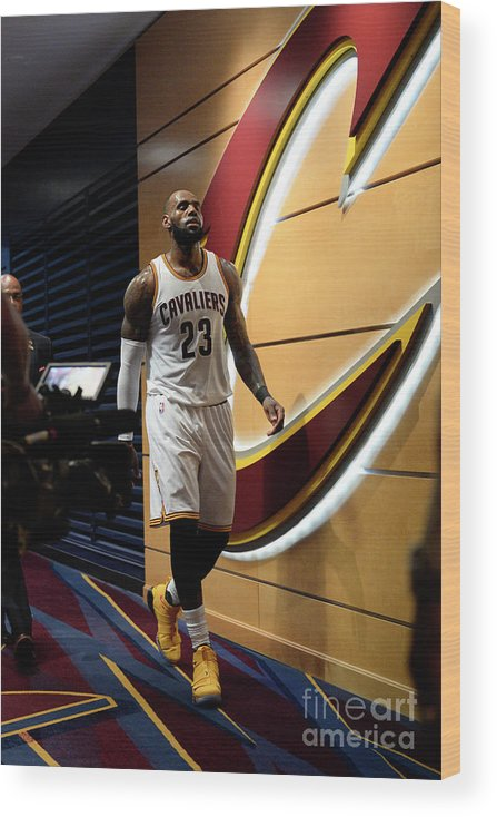 Playoffs Wood Print featuring the photograph Lebron James by David Dow