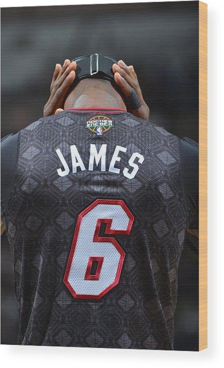 Nba Pro Basketball Wood Print featuring the photograph Lebron James by Jesse D. Garrabrant