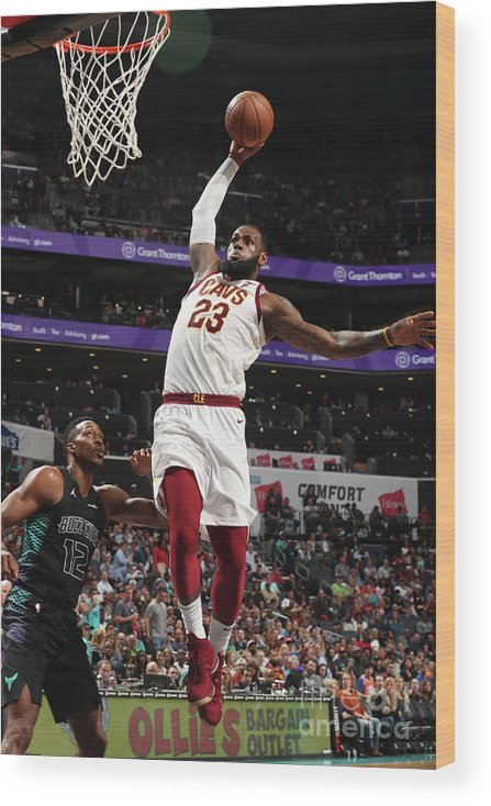 Nba Pro Basketball Wood Print featuring the photograph Lebron James by Kent Smith