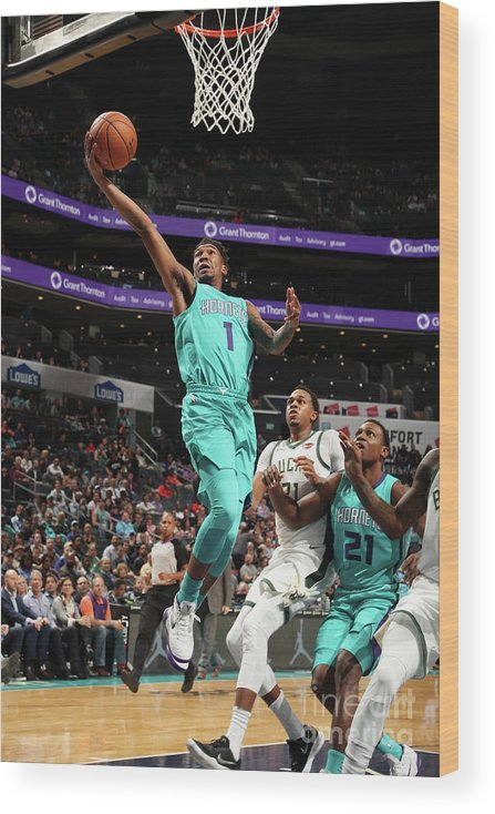Nba Pro Basketball Wood Print featuring the photograph Malik Monk by Kent Smith