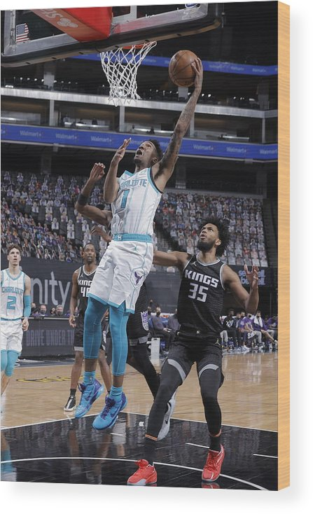 Nba Pro Basketball Wood Print featuring the photograph Malik Monk by Rocky Widner