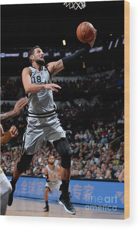 Nba Pro Basketball Wood Print featuring the photograph Marco Belinelli by Mark Sobhani