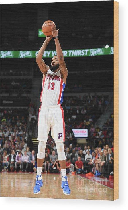 Nba Pro Basketball Wood Print featuring the photograph Marcus Morris by Chris Schwegler