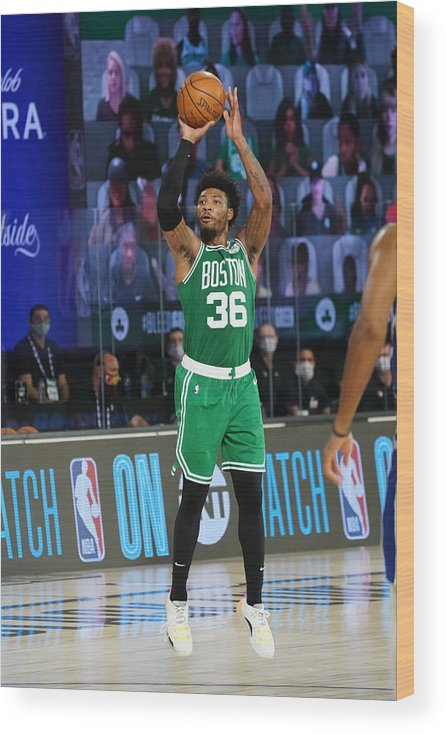 Playoffs Wood Print featuring the photograph Marcus Smart by Jesse D. Garrabrant
