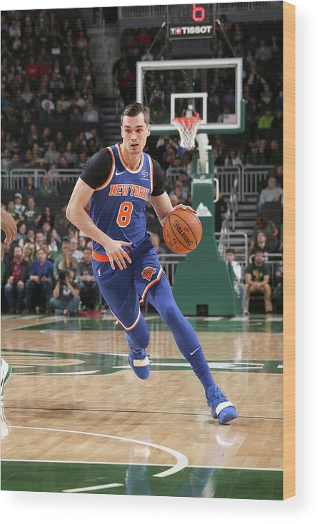 Nba Pro Basketball Wood Print featuring the photograph Mario Hezonja by Gary Dineen