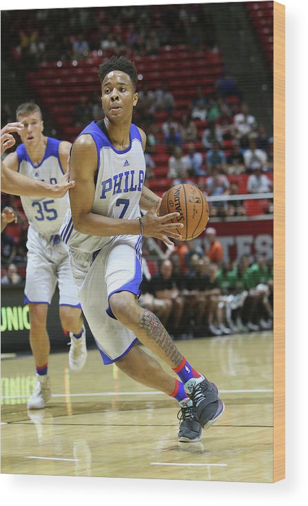 Nba Pro Basketball Wood Print featuring the photograph Markelle Fultz by Melissa Majchrzak