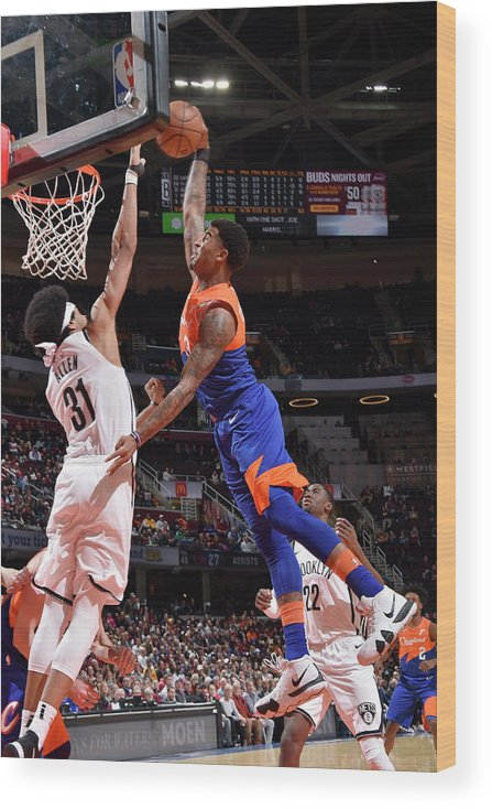 Nba Pro Basketball Wood Print featuring the photograph Marquese Chriss by David Liam Kyle