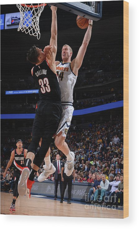 Playoffs Wood Print featuring the photograph Mason Plumlee by Bart Young