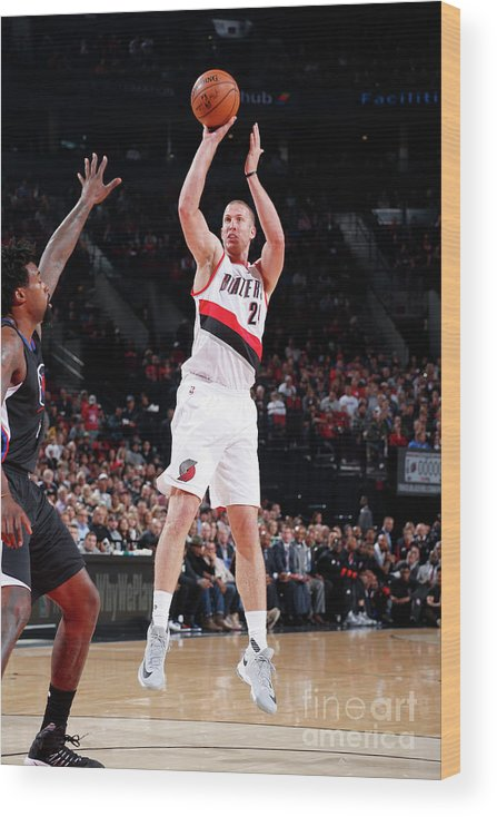 Nba Pro Basketball Wood Print featuring the photograph Mason Plumlee by Sam Forencich