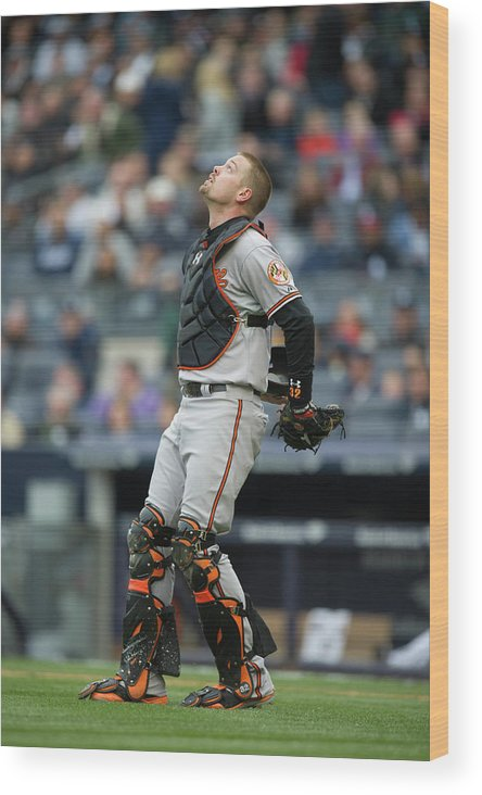 East Wood Print featuring the photograph Matt Wieters by Rob Tringali