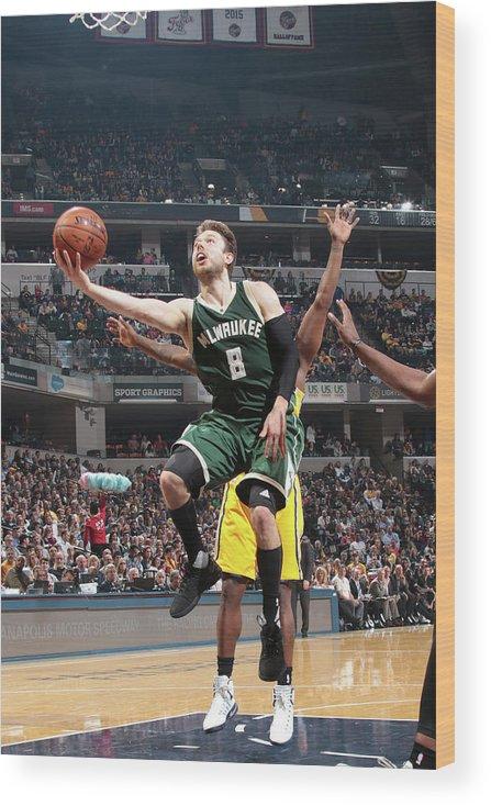 Nba Pro Basketball Wood Print featuring the photograph Matthew Dellavedova by Ron Hoskins